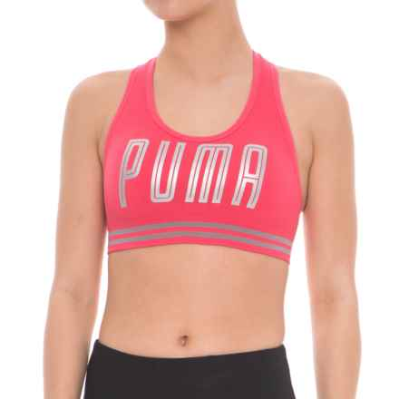 Puma Seamless Hero Sports Bra - Low Impact, Removable Padded Cups (For Women) in Bright Pink - Closeouts