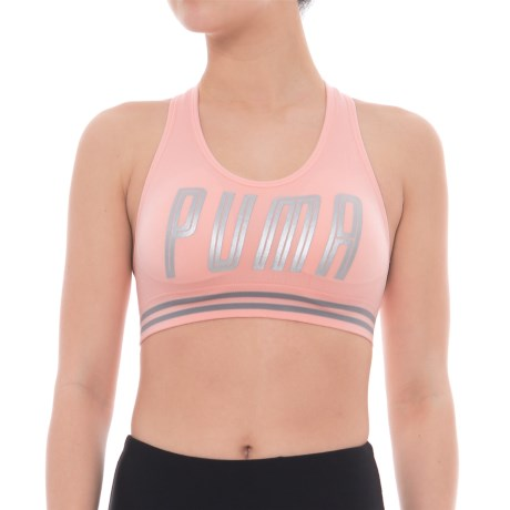 Puma Seamless Hero Sports Bra - Low Impact, Removable Padded Cups (For Women) in Light Pastel Pink