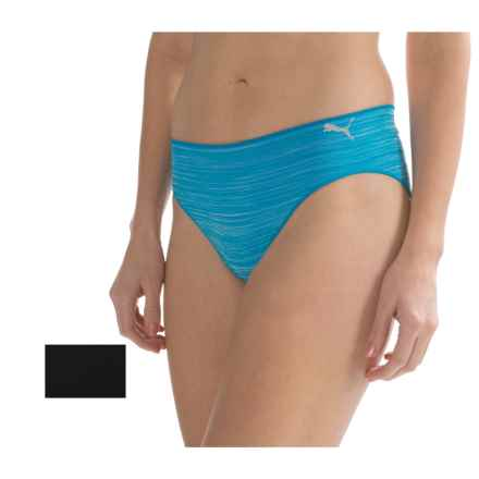 Puma Seamless Space-Dyed Panties - 2-Pack, Bikini (For Women) in Turquiose - Closeouts