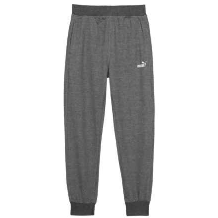 Puma Side Logo Joggers (For Big Boys) in Charcoal Heather - Closeouts