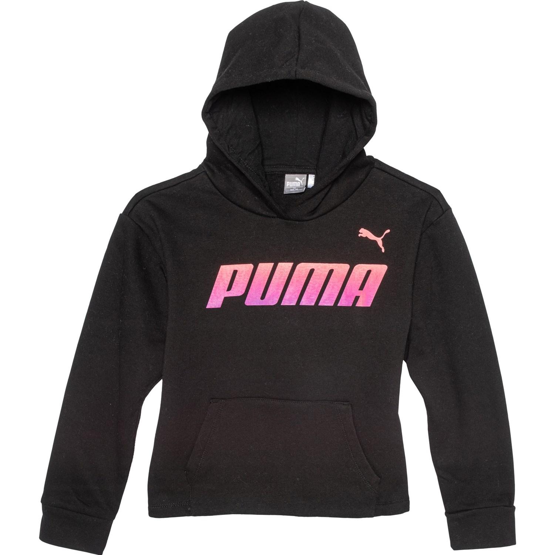 Puma Slant Sports Fleece Pullover Hoodie (For Big Girls