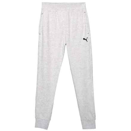 Puma Small Cat Logo Joggers (For Big Boys) in Light Heather Grey - Closeouts