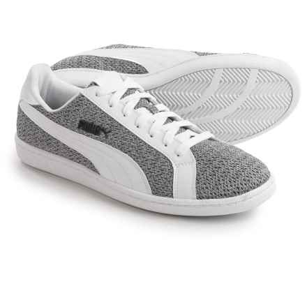 Puma Smash Knit Sneakers (For Men) in Puma White/Puma White - Closeouts