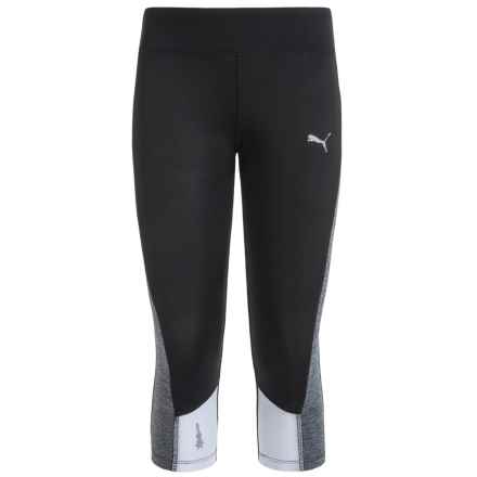 Puma Solid Active Capris (For Big Girls) in Black - Closeouts