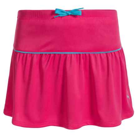 Puma Solid Drawstring Skort (For Big Girls) in Coral - Closeouts