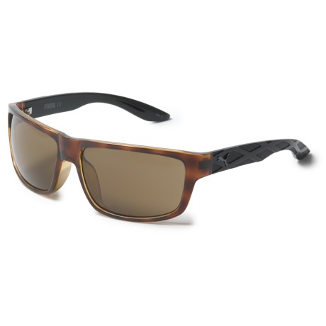 Puma Sport Rectangle Sunglasses (For Men) in Avana/Black/Brown