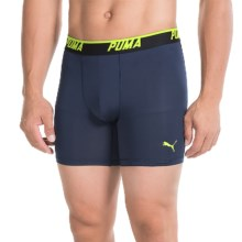 Puma Sport Stretch-Performance Boxer Briefs (For Men) in Blue/Green - Closeouts