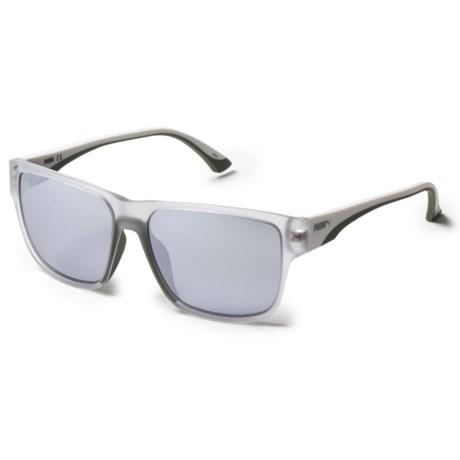 Puma Square Shape Sunglasses in Crystal White/Gray