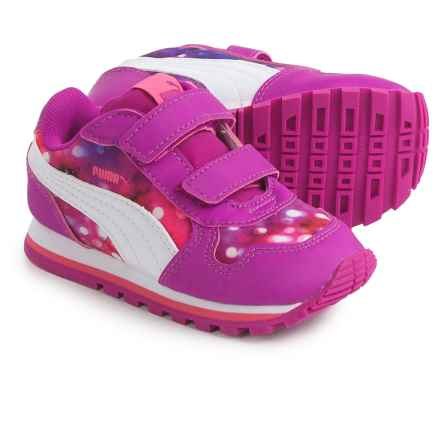 Puma St Runner NL Lights Sneakers (For Infant and Toddler Girls) in Ultra Magenta/Puma White - Closeouts