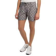 Puma Stretch Print Golf Shorts (For Women) in Black/Castlerock/Wild Dove - Closeouts
