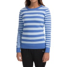 Puma Striped Novelty Sweater - Crew Neck (For Women) in Ultramarine/Omphalodes - Closeouts