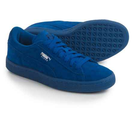 Puma Suede Jr. Classic Sneakers (For Big Boys) in Monaco Blue - Closeouts