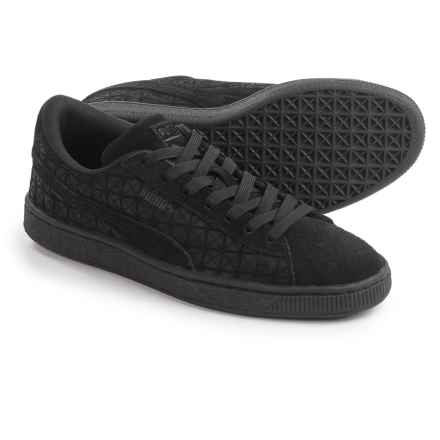 Puma Suede On Suede Jr. Sneakers (For Big Boys) in Black - Closeouts