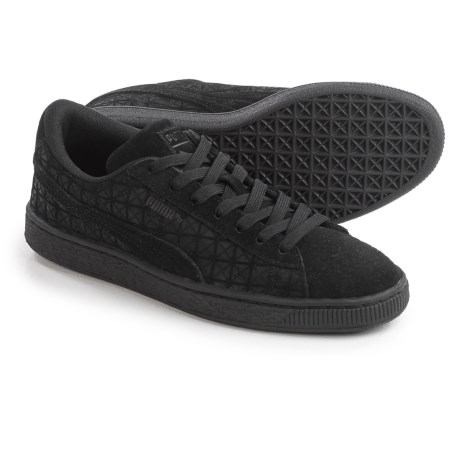 Puma Suede On Suede Jr. Sneakers (For Big Boys) in Black