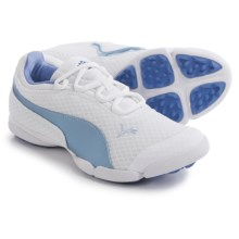 Puma Sunnylite Mesh Golf Shoes (For Women) in White/Omphalodes/Ultramarine - Closeouts