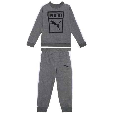 Puma Sweatshirt and Sweatpants Set - 2-Piece (For Little Boys) in Charcoal Heather