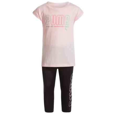 Puma T-Shirt and Capris Set - Short Sleeve (For Toddler Girls) in Pearl - Closeouts