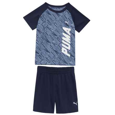 Puma T-Shirt and Shorts Set - Short Sleeve (For Toddler Boys) in Infinity - Closeouts