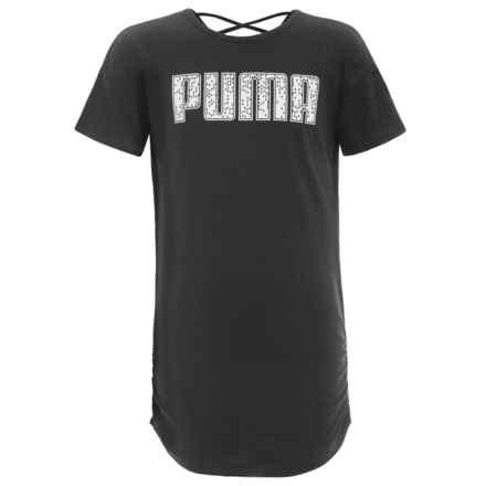 Puma T-Shirt Dress - Short Sleeve (For Big Girls) in Puma Black - Closeouts