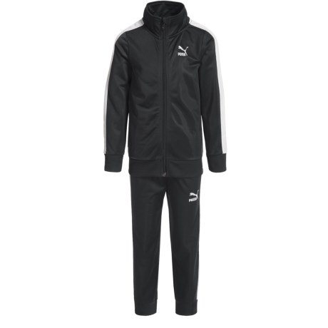 Puma T7 Track Jacket and Pants Set (For Little Boys) in Puma Black