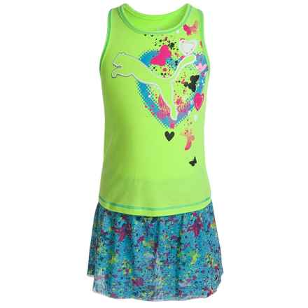 Puma Tank Top and Skort Set (For Little Girls) in Kite Green - Closeouts