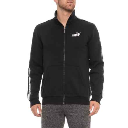 Puma Tape Track Jacket (For Men) in Cotton Black - Closeouts