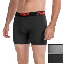 Puma Tech Boxer Briefs - 3-Pack (For Men) in Black/Grey - Closeouts