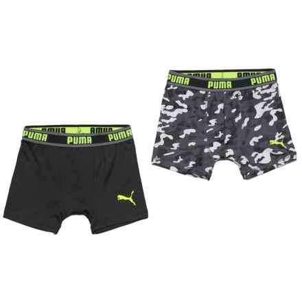 Puma Tech Camo Boxer Briefs - 2-Pack (For Boys) in Dark Gray - Closeouts