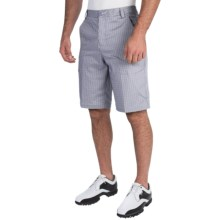 Puma Tech Plaid Bermuda Golf Shorts - UPF 50+ (For Men) in Folkstone Gray/Black/Gray Dawn - Closeouts