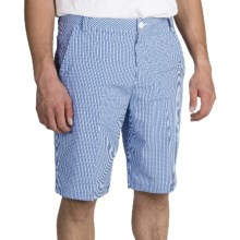 Puma Tech Plaid Bermuda Golf Shorts - UPF 50+ (For Men) in Strong Blue/Gray Dawn/White - Closeouts