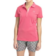 Puma Tech Polo Shirt - UPF 30+, Short Sleeve (For Women) in Camellia Rose - Closeouts