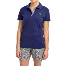 Puma Tech Polo Shirt - UPF 30+, Short Sleeve (For Women) in Medieval Blue - Closeouts