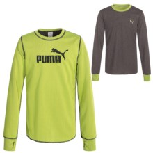 Puma Tech T-Shirt - Reversible, Long Sleeve (For Big Girls) in Lemon Tonic - Closeouts