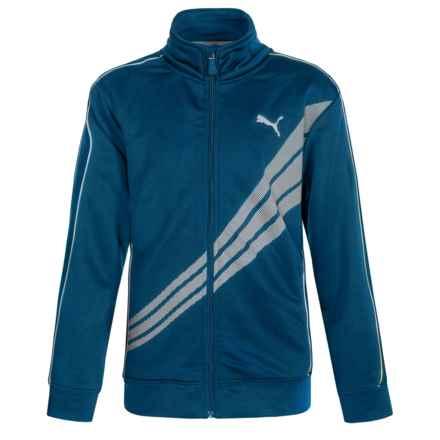 Puma Tech Track Jacket (For Big Boys) in Poseidon - Closeouts