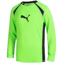 Puma Technical Shirt - Long Sleeve (For Big Boys) in Active Green - Closeouts