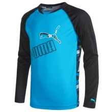 Puma Technical Shirt - Long Sleeve (For Big Boys) in Atomic Blue - Closeouts