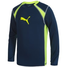 Puma Technical Shirt - Long Sleeve (For Big Boys) in Deep Navy - Closeouts