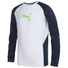 Puma Technical Shirt - Long Sleeve (For Big Boys) in Puma White - Closeouts