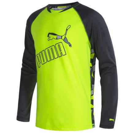 Puma Technical T-Shirt - Long Sleeve (For Little Boys) in Acid Yellow - Closeouts