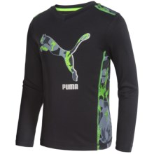 Puma Technical T-Shirt - Long Sleeve (For Little Boys) in Puma Black - Closeouts