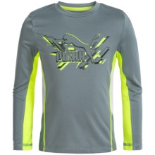 Puma Technical T-Shirt - Long Sleeve (For Little Boys) in Smoke Grey - Closeouts