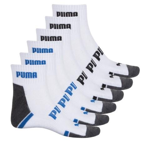 Puma Terry Socks - 6-Pack, Ankle (For Men) in White/Black