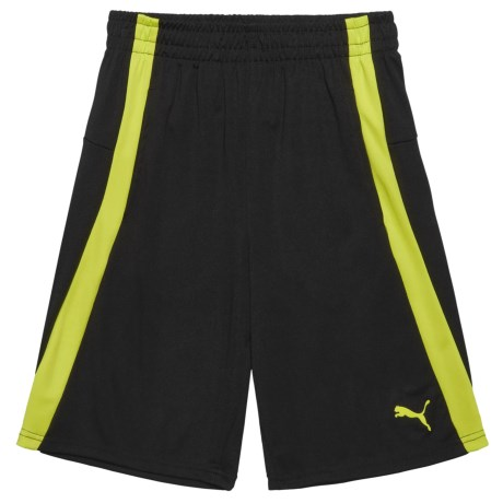 Puma Thick-Stripe Shorts (For Little Boys) in Energy Yellow