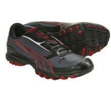 Puma Trace Mesh Shoes (For Men) in Shadow/Black/Red/Silver - Closeouts