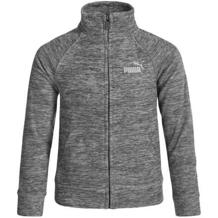 Puma Track Logo Jacket (For Big Boys) in Charcoal Heather - Closeouts