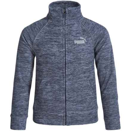 Puma Track Logo Jacket (For Big Boys) in Deep Navy - Closeouts