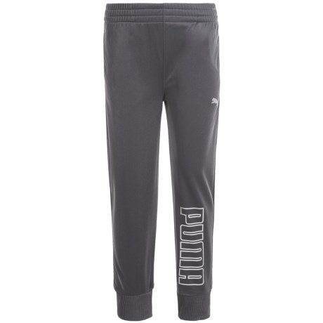Puma Tricot Joggers (For Little Boys) in Coal