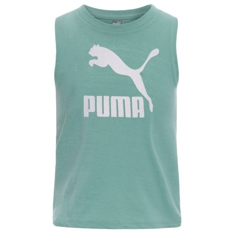 Puma Tulip Back Tank Top (For Little Girls) in Aquifer