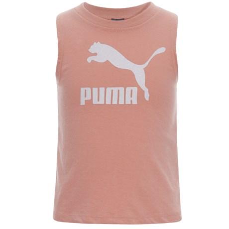 Puma Tulip Back Tank Top (For Little Girls) in Peach Beige