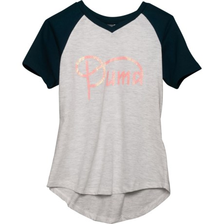 f0c92daf432 Puma V-Neck Raglan T-Shirt - Short Sleeve (For Big Girls)